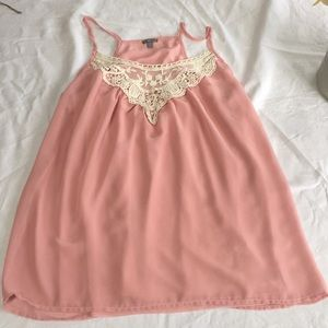 Dusty pink Charlotte Russe top